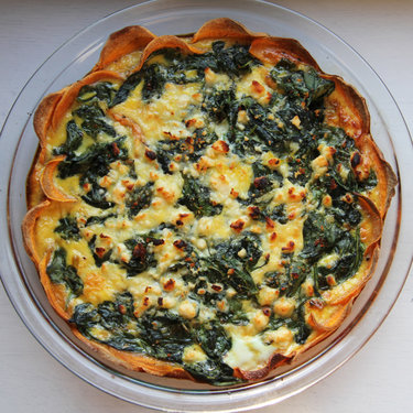 Sweet Potato Crust Quiche