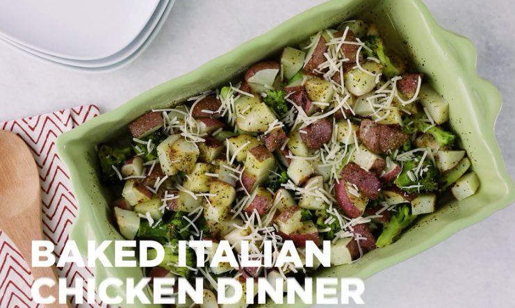 Italian Chicken Bake with Broccoli