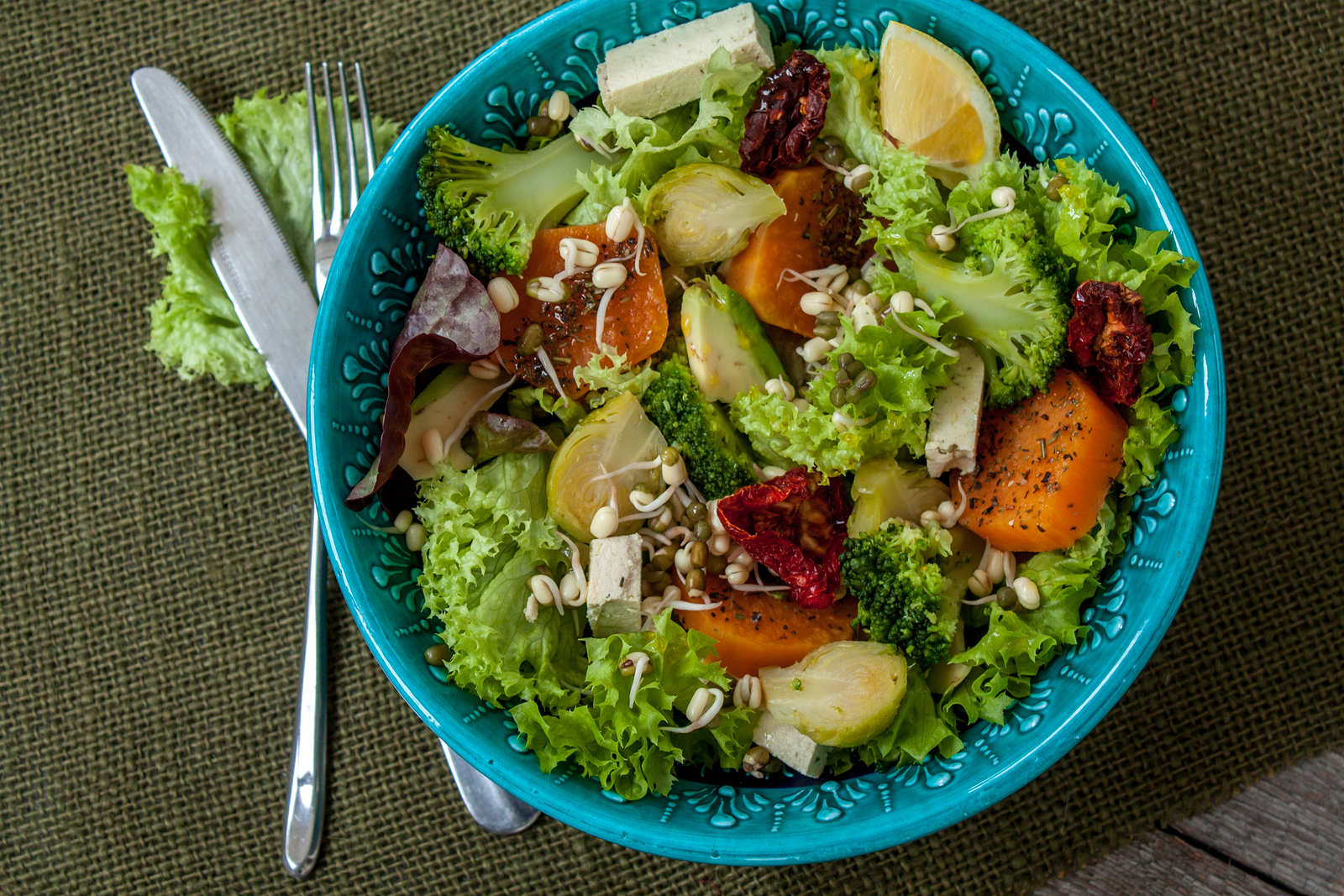Sweet Potato and Brussels Sprouts Salad
