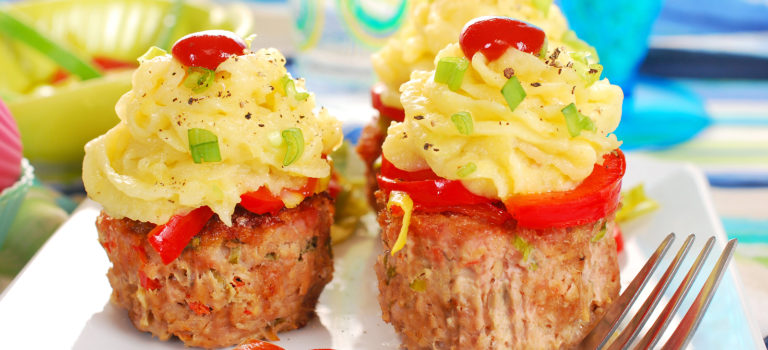 Cheeseburger Mini-Meatloaves