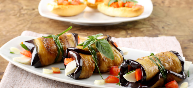 Eggplant Parmesan Rollatini