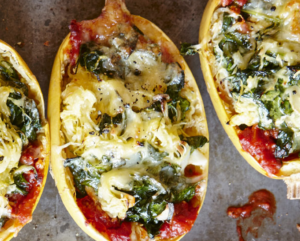 Spaghetti Squash Lasagna with Spinach