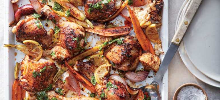 Sumac Chicken with Cauliflower and Carrots